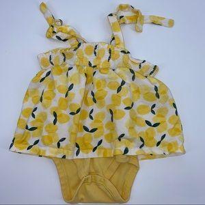 Tea Collection Lemon Dress Bodysuit 12-18M